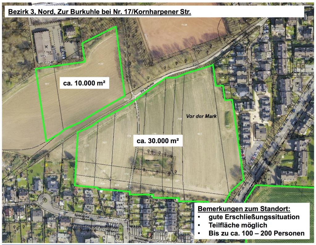 Bezirk 3, Nord Zur Burkuhle bei Nr. 17 Kornharpener Str.