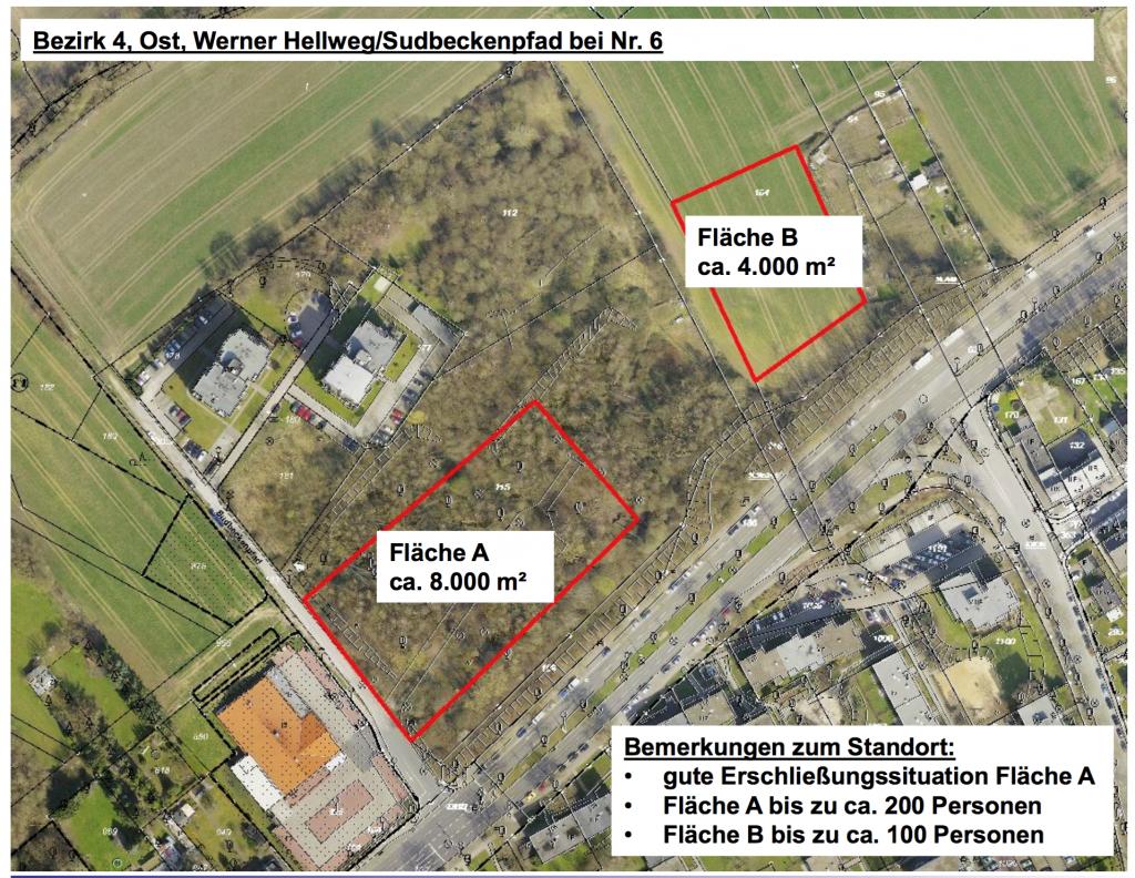 Bezirk 4, Ost Werner Hellweg Sudbeckenpfad bei Nr. 6