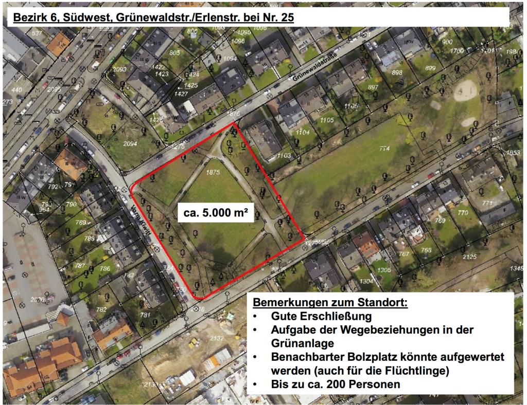 Bezirk 6, Suedwest Gruenewaldstr.:Erlenstr. bei Nr. 25