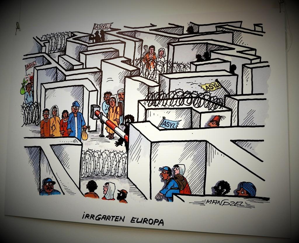 karikaturen waldemar manzel-bochum Stadtarchiv