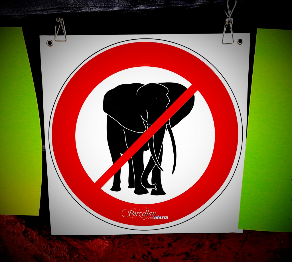 no elefants bochum porzellanalarm