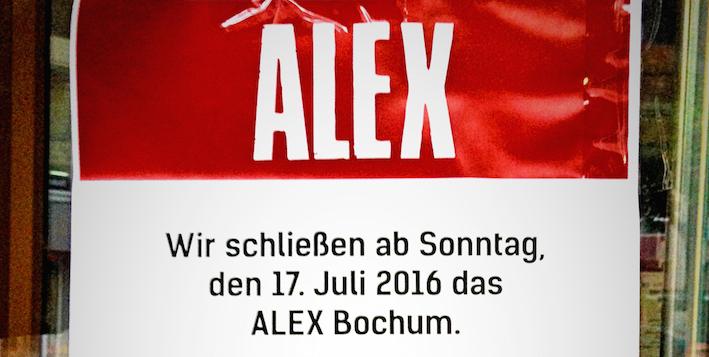 Alex Bochum und ja das alex hat auch zu bochum punkt cool